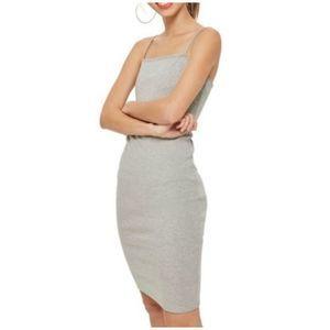 NWT Topshop Gray Jersey Slip Dress Size 8
